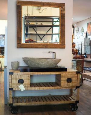 Industrial vintage arredamento mobili in stile industriale - Bagno stile industriale ...