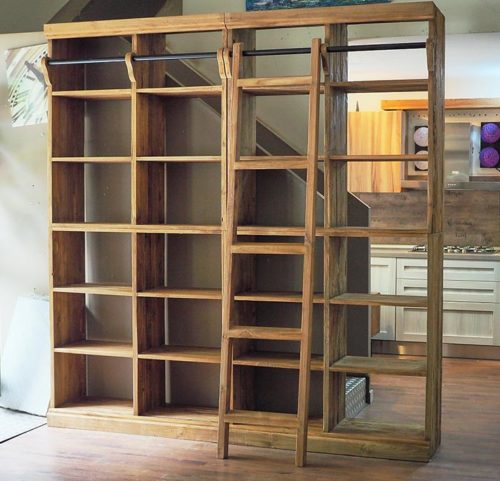 libreria scala legno massello