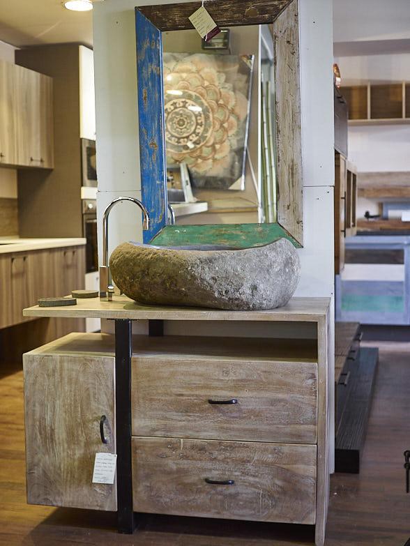 Mobile bagno in stile vintage moderno prezzo offerta outlet - Mobiletto bagno da appendere ...