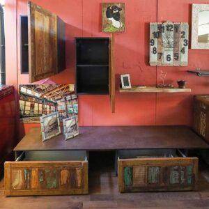 mobile soggiorno legno di riciclo