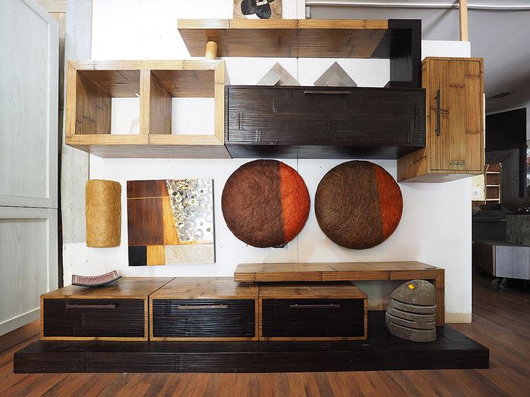 Parete soggiorno bamboo infinity offerta pareti attrezzate etniche