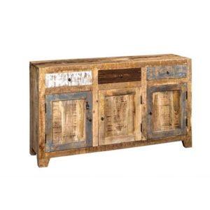 Credenza colorata legno riciclato