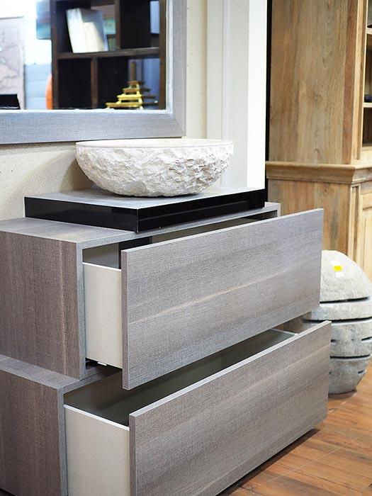 Mobile bagno grigio minimal in offerta compreso di specchio