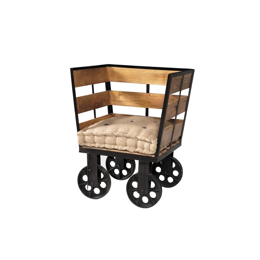 Poltrona in stile Industrial legno e ferro vendita prezzo offerta