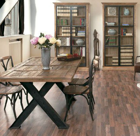 Tavolo ferro e legno offerta prezzo on line occasione - Tavolo legno ferro ...