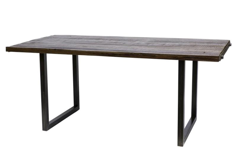 Tavolo legno e ferro allungabile stile industry in legno riciclato
