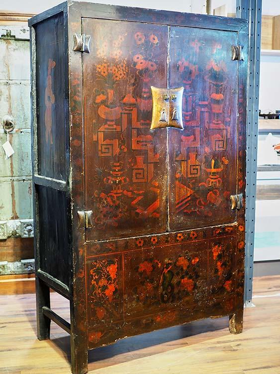 Armadio d 39 epoca fine 800 mongolia pezzo unico legno massello for Vendita mobili d epoca