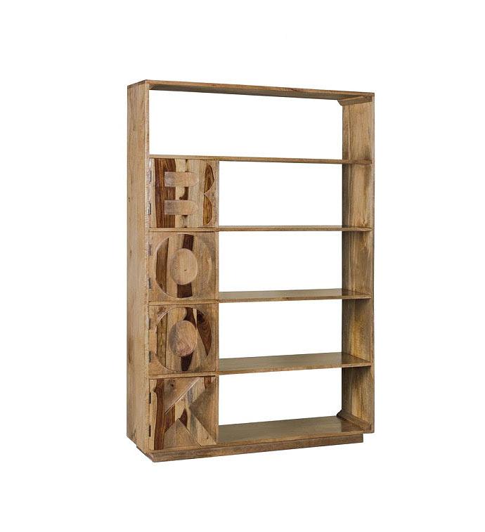 Libreria book in legno massello capiente e particolare