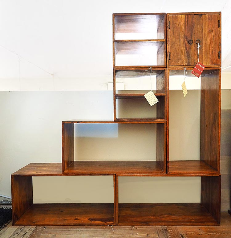 Moduli componibili scala legno massello di noce in offerta for Arredamento indiano on line