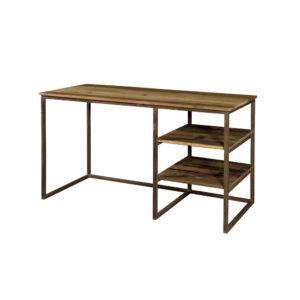 scrivania legno e ferro