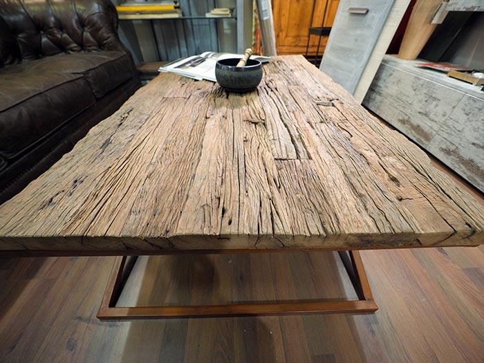 tavolo basso legno riciclato e ferro vendita on line pezzo