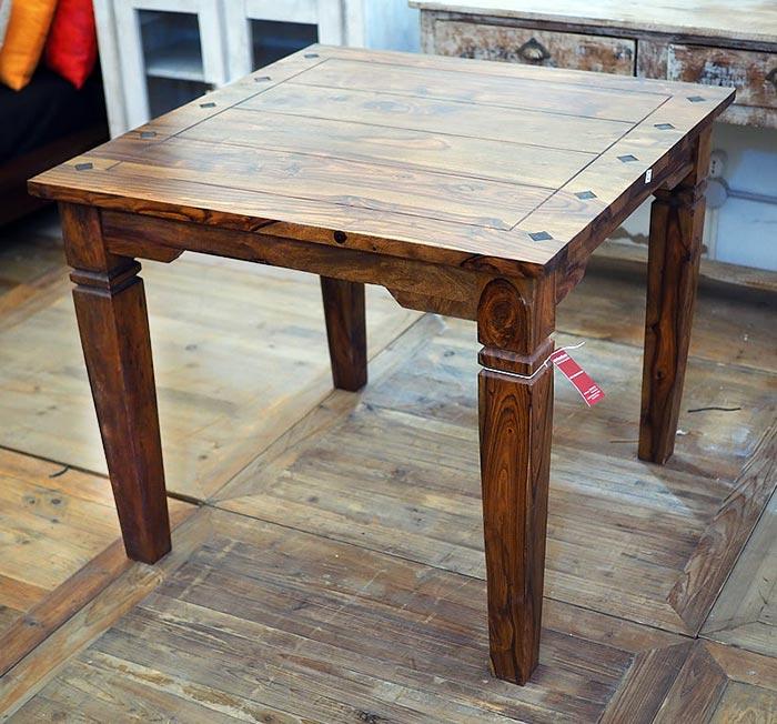 Tavolo indiano etnico allungabile in legno massello di noce for Tavolo consolle allungabile legno massello