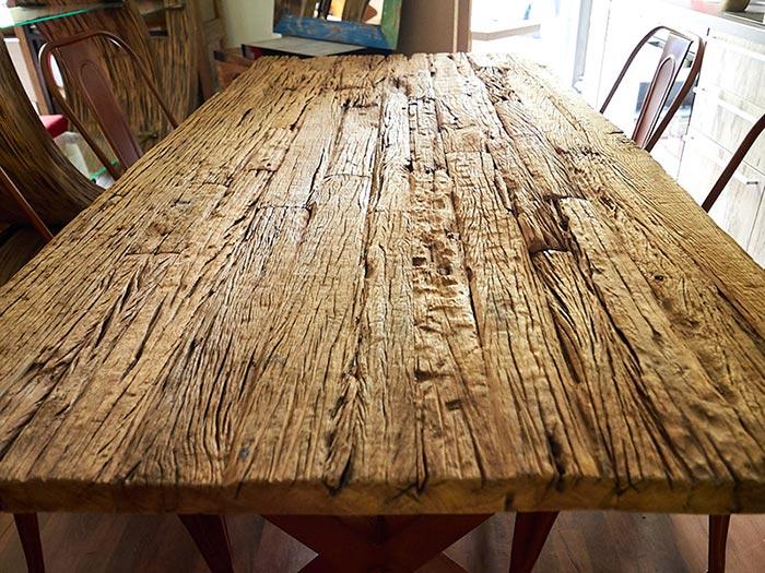 Tavolo legno di recupero massello prezzo offerta outlet - Mobili con legno di recupero ...
