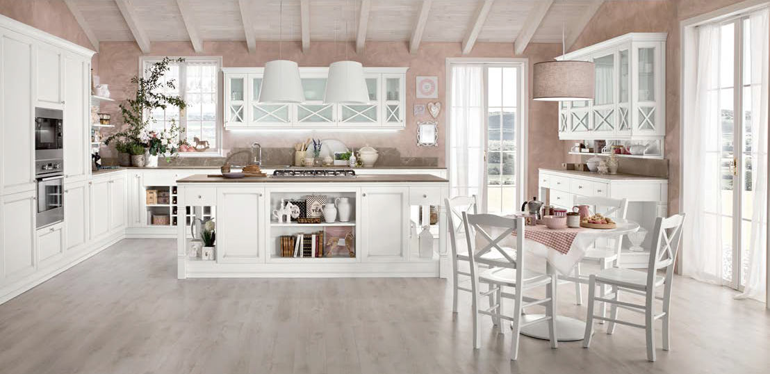 Cucine provenzali moderne in stile shabby chic e country for Cucina provenzale
