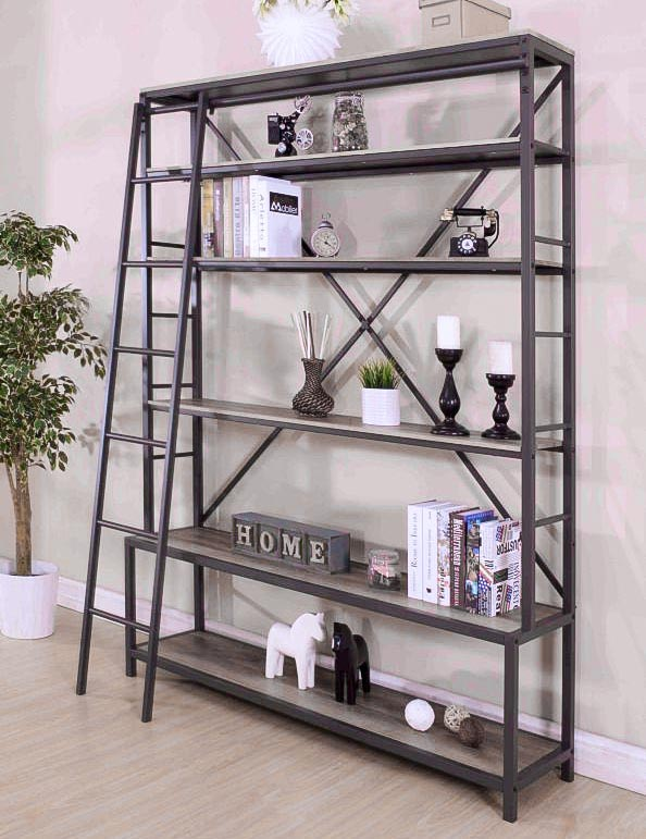 Libreria industrial chic porta tv prezzo offerta outlet for Mobile libreria in offerta