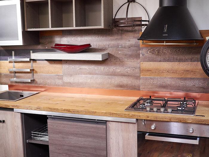 Cucina stile industrial in offerta top in vero legno - Cucine etniche arredamento ...