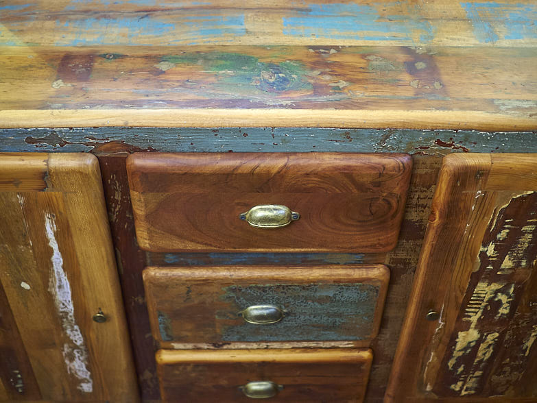 Offerte Credenza Moderna : Credenza vintage legno riciclato in offerta prezzo outlet
