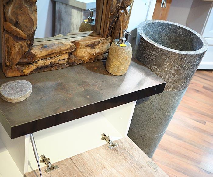 Mobile da bagno con lavello a colonna in marmo offerta for Mobile lavello bagno