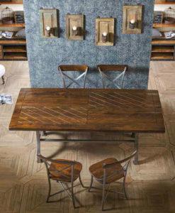 Industrial vintage arredamento mobili in stile industriale e vintage - Tavolo legno e ferro ...