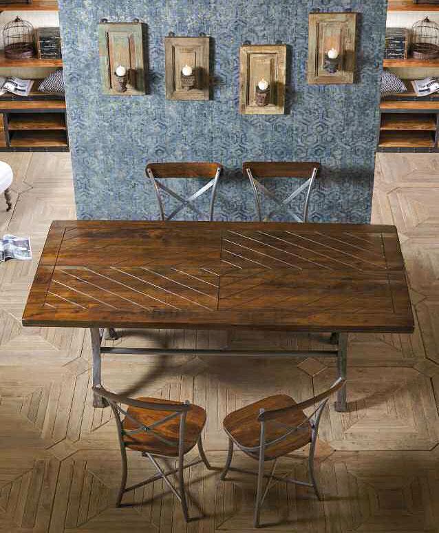 Tavolo industrial legno e ferro in vendita a prezzo outlet - Tavolo legno ferro ...
