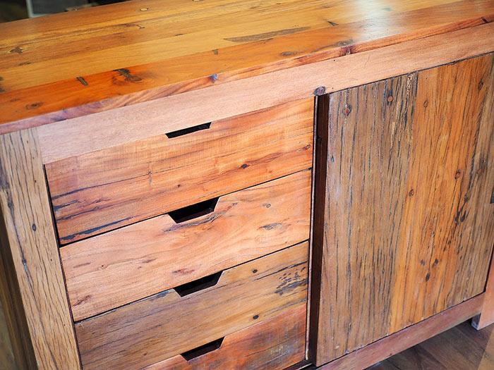 Credenza Olmo Naturale in offerta mobile legno massello
