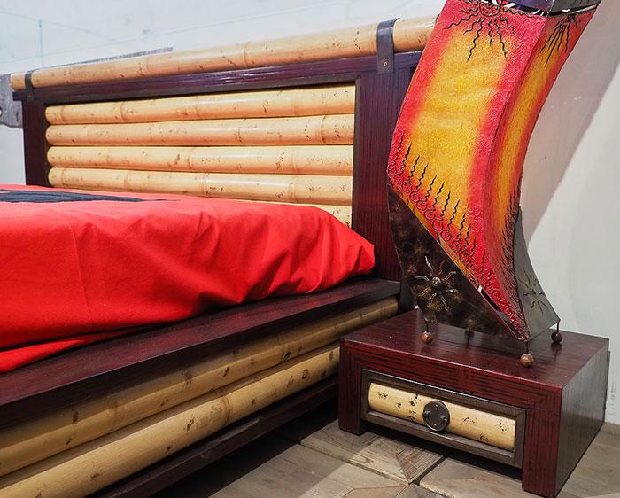 Camera da letto etnica completa prezzo outlet on line letto bambu - Camera letto offerta ...