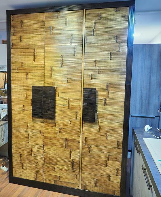 Armadio legno e crash bambo