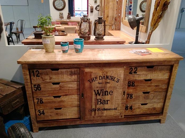 Credenza Con Bar : Credenza bar vintage legno massello di mango offerta outlet