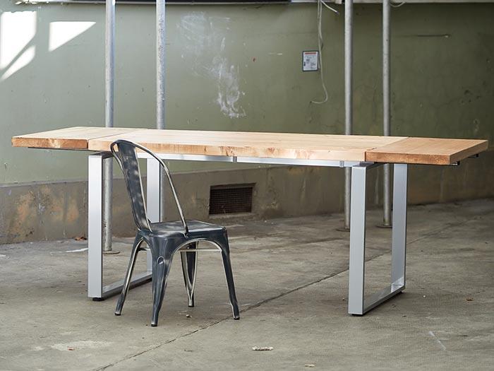 Tavolo allungabile legno e ferro stile industriale moderno