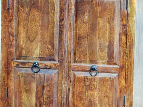 armadio legno massello india
