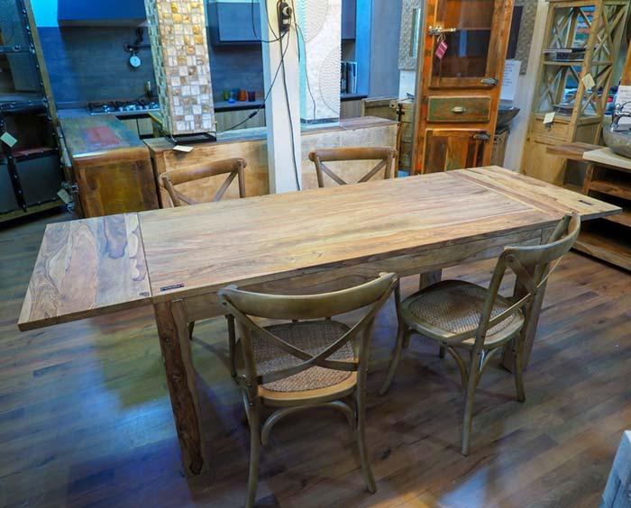 Tavolo allungabile legno massello