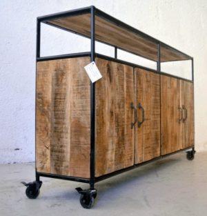 credenza industrial vintage ruote