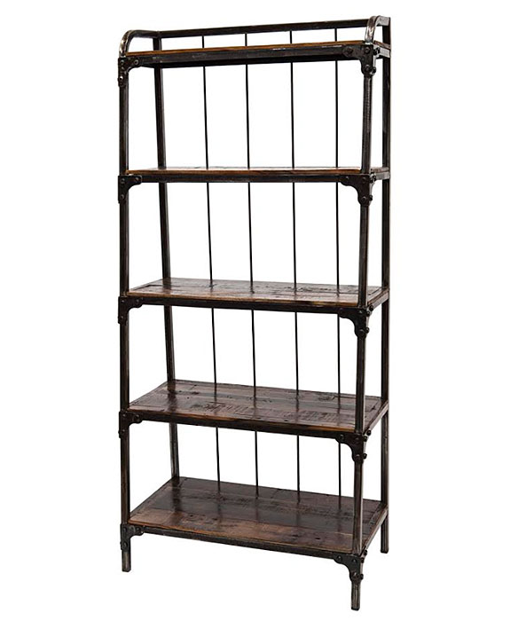 Libreria ferro battuto stile industrial in offerta on line