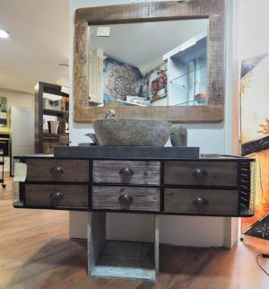 mobile bagno industrial chic