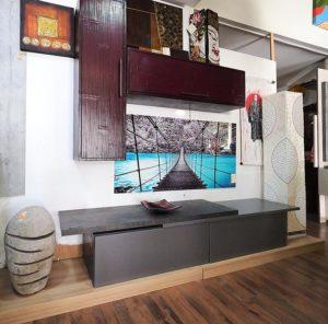 parete soggiorno minimal