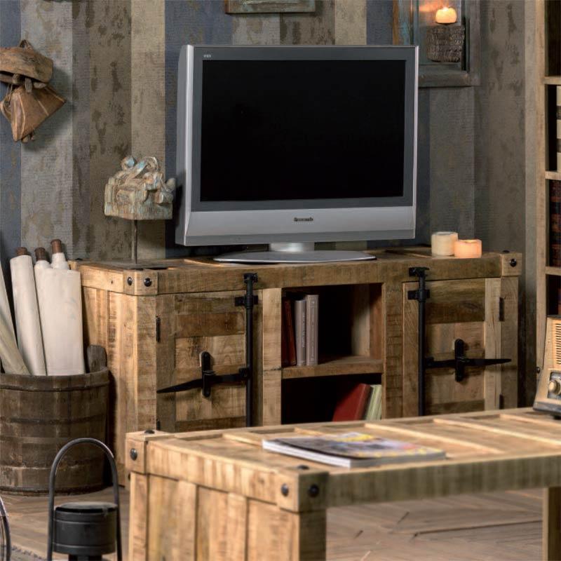 Porta tv container mobiletto stile industrial e vintage - Porta tv originali ...