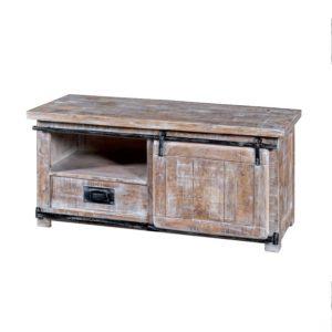 porta tv legno sbiancato