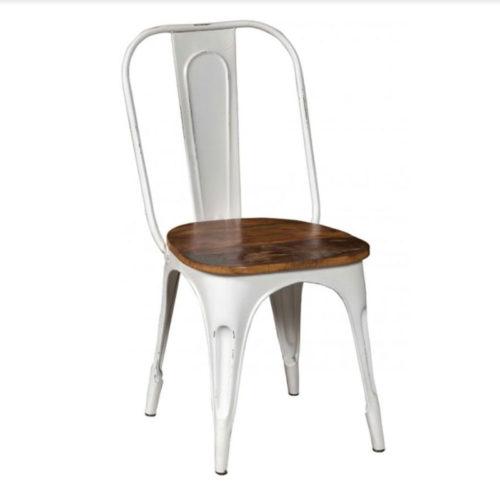 sedia vintage bianca