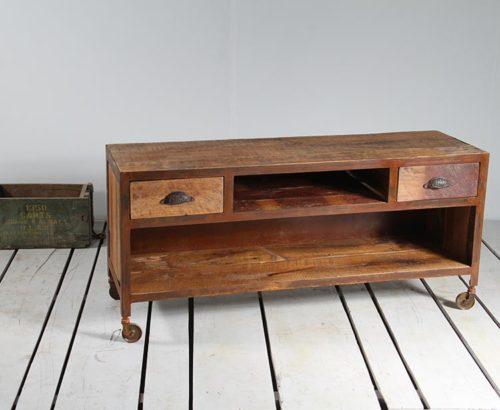 porta tv legno ferro