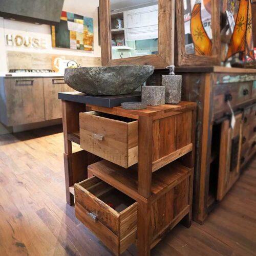 mobiletto bagno legno