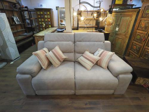 divano 2 posti con recliner elettrico