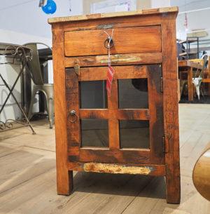 comodino legno riciclato