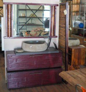 Mobile bagno bambu red