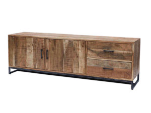 credenza bassa legno massello