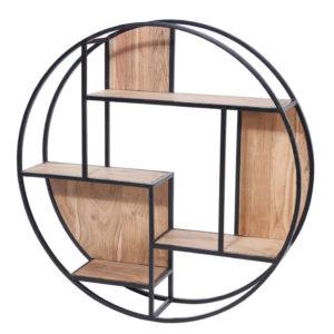 Libreria rotonda legno ferro