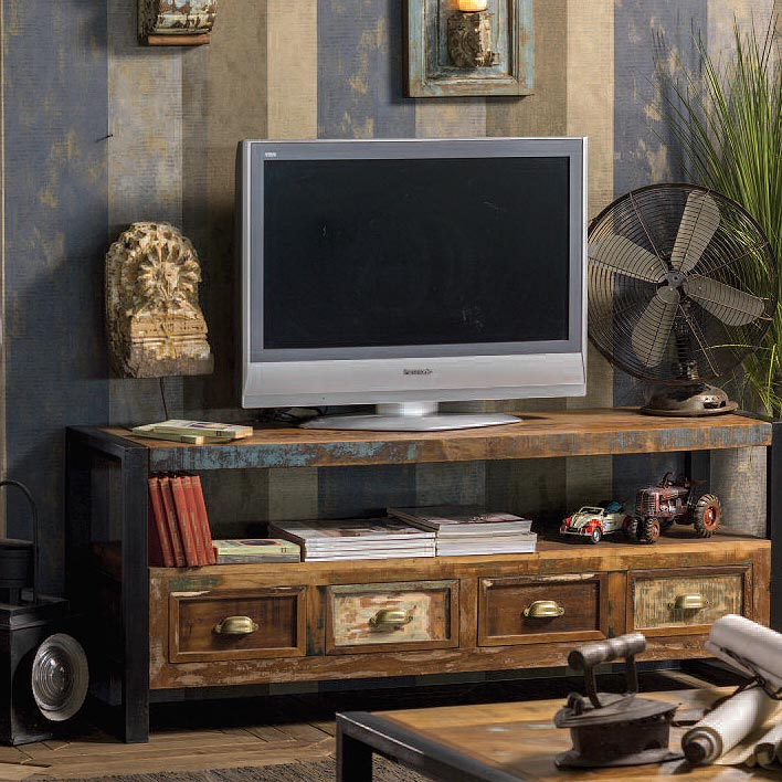Mobile porta tv vintage legno riciclato