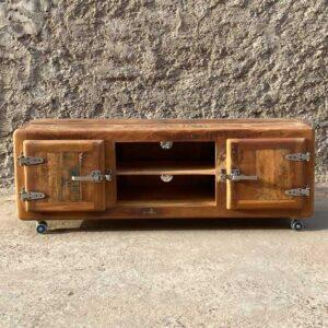 porta tv in legno vintage