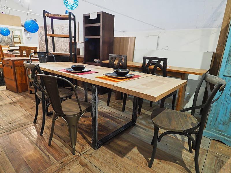 Tavolo Industriale Allungabile : Tavolo factory legno e ferro allungabile nuovimondi prezzo offerta