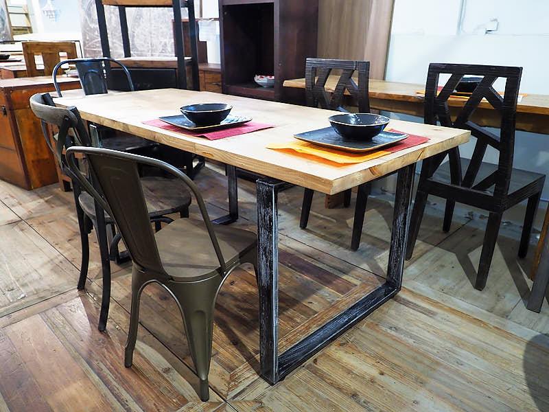 Tavolo factory legno e ferro allungabile nuovimondi - Tavolo ferro e legno ...