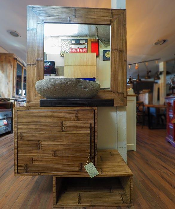 Bagno etnico moderno bambu nuovimondi outlet arredo bagno - Mobile bagno etnico ...